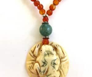 carnelian jewelry, vintagevoguetreasure, and etsy image