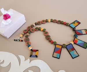 etsy, colorful jewelry, and short necklace image