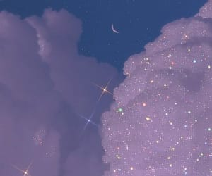 blue, clouds, and stars image