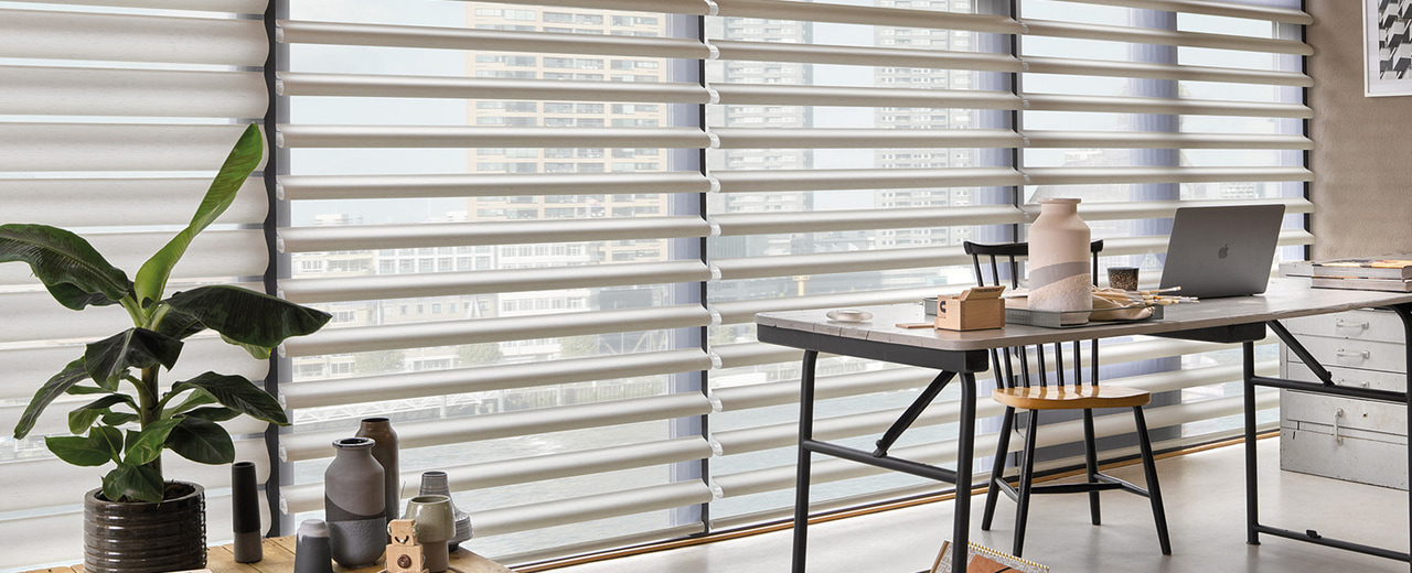 article and window shades for house image