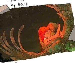 animation, comics, and couple image
