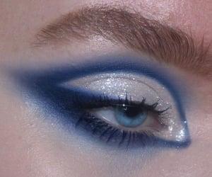 blue, diamond, and makeup image