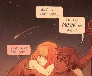 comics, couple, and sun image