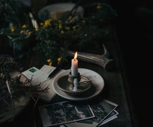 candle, dark, and aesthetic image