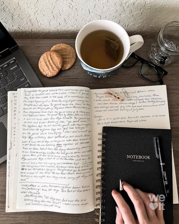 breakfast, computer, and inspiration image