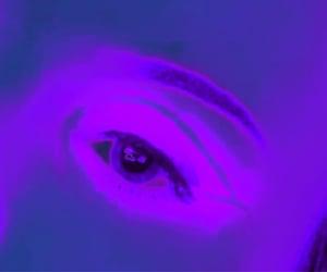 eye, neon, and purple image