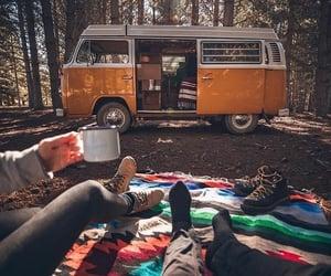 Caravan, travel, and van image