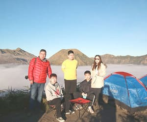 camping, volcano, and mountain image