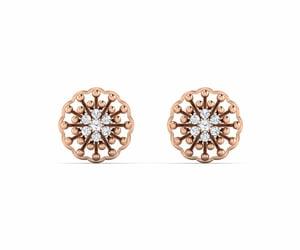 gold earrings and diamond earrings image
