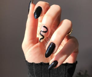 aesthetic, black, and nail image