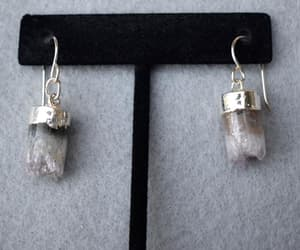 etsy, amethyst earrings, and one of a kind image
