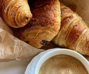chocolate, coffee, and croissant image
