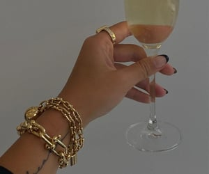 accessories, bracelet, and champagne image