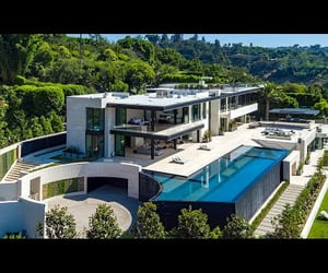 90210, architecture, and millionaires image