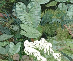 art, green, and leaf image