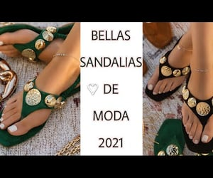 moda, sandals, and sandalias image