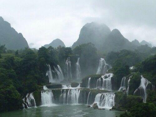 nature, waterfall, and grunge image