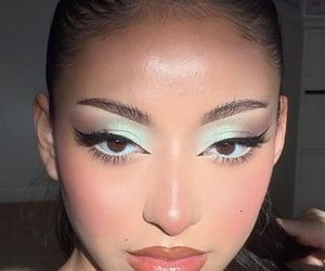 eyeliner, lipgloss, and skin image