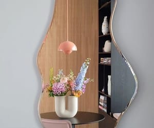 mirror, flowers, and aesthetic image