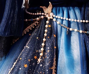 blue, dress, and fantasy image