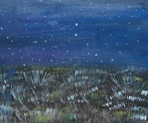 azul, cielo, and estrellas image