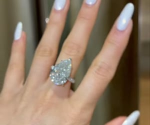 ring, diamond, and pear shape image