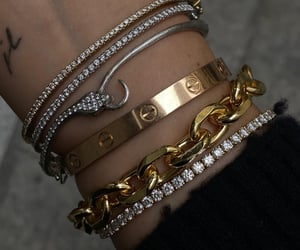 bracelets, cartier, and diamond image