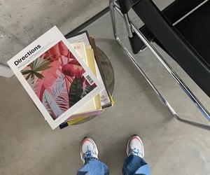 books, interior design, and home inspo image