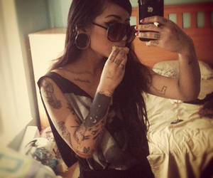 tattoo, girl, and apple image