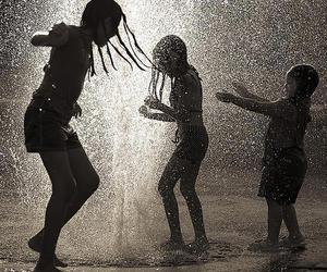 rain, child, and kids image