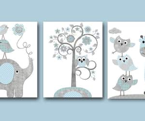 etsy, baby boy nursery, and nursery art print image