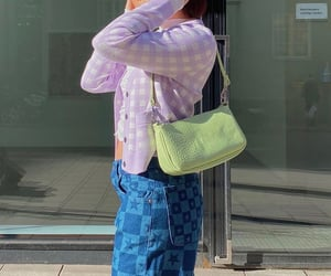 purple cardigan, street style, and everyday look image