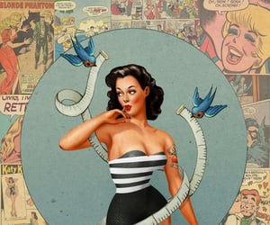 art, Pin Up, and 1950 image