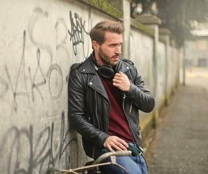 leather jackets, men jacket, and biker jackets image
