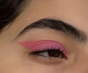 pink, makeup, and eyeshadow image