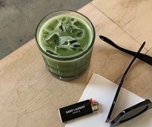 drink, green, and matcha image