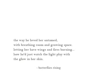 love poem, love quote, and butterflies rising image