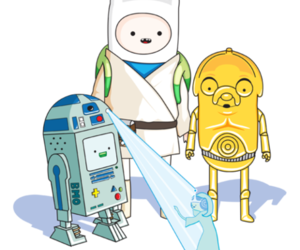 star wars, adventure time, and finn image