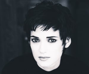 actress, black and white, and winona ryder image