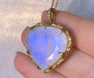 aesthetic, jewelry, and moonstone image