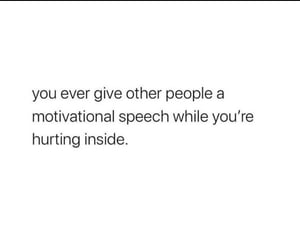 deep quotes, hurting inside, and sadquote image