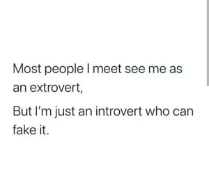 introvert, me, and quotes image