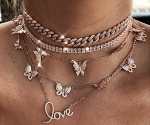 necklace, rose gold, and jewelry image