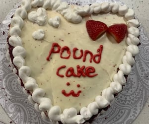 cake, pound, and red image