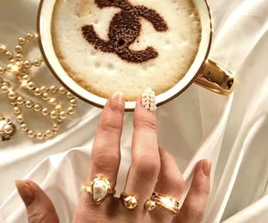 latte, luxury, and pearls image