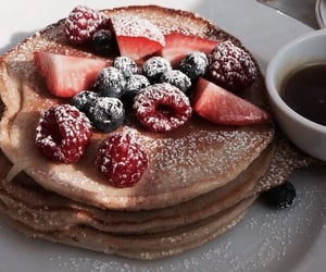 food, pancakes, and yummy image