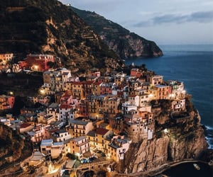cliffs, Houses, and italy image