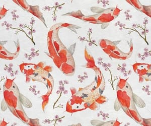 fish, wallpaper, and koi image