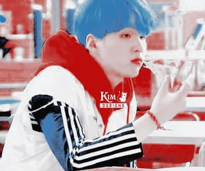 red and blue, min yoongi, and bts theme image