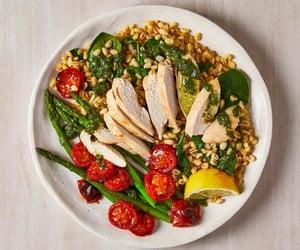 salad, healthy food, and tomatoes image